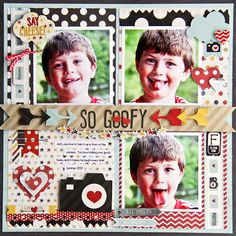 Luv-a-Lot Land: Simple Stories Say Cheese layout by Jodi Wilton.