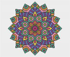 PATTERN Statement Mandala Cross Stitch Chart by theworldinstitches