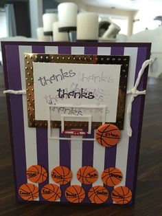 Basketball coach thank you card