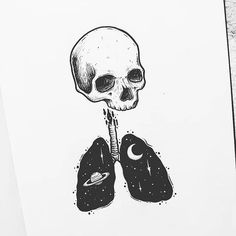 Trendy Ideas For Tattoo For Women Small Quotes Articles Dark Art Drawings, Tattoo Drawings, Cool Drawings, Tattoo Sketches, Tattoos, Arte Obscura, Skeleton Art, Black And White Illustration, Ink Illustrations