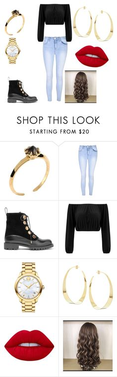 """""""Untitled #42"""" by lookinbeauty ❤ liked on Polyvore featuring Katie Rowland, Glamorous, Alexander McQueen, Movado, Lana and Lime Crime"""