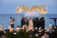 Beautiful altar decoration for a jewish wedding at Playa del Carmen. Altar Decorations, Beach Wedding Decorations, Grand Hyatt, Amazing Weddings, White Sand Beach, Post Wedding, Hotels And Resorts, Beautiful Gardens, Wedding Ceremony