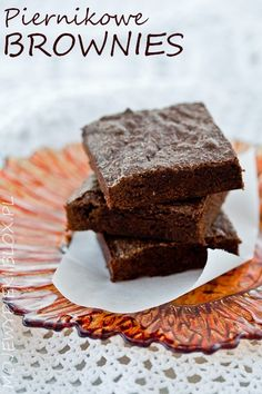 Piernikowe brownies