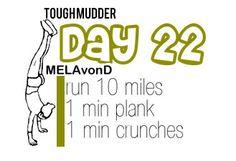 Marathon and Tough Mudder Training Tough Mudder Workout, Tough Mudder Training, Spartan Race Training, Spartan Workout, Crossfit Wods, Month Workout, Workout Days, Workouts, Exercises