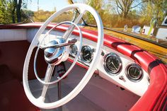 Chris Craft Riviera dash board and steering wheel Chris Craft Boats, Runabout Boat, Secret Photo, Dashboards, Car Wheels, Space Crafts, Girls Dream, Drawing For Kids, Toddler Crafts