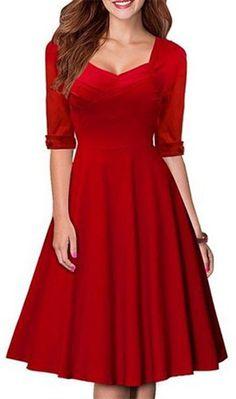 Vintage looking red dress