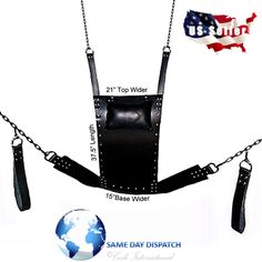 We Are Committed To Provide You This Supreme Quality, Real Leather Sex Swing Made From Premium Grade 3.2mm Thick Black Leather. 100% Real Leather Adult Sex Swing Sling V5 The Real Sex Swing Is Made With Hand From Quality Black Leather, Stitched And Riveted For Extra Strength.   eBay!
