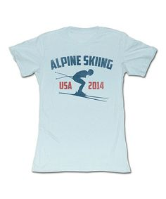 Another great find on #zulily! Light Blue 'Alpine Skiing' Tee - Women #zulilyfinds