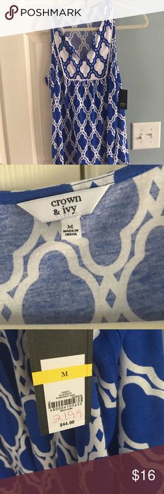 Tank top by Crown and Ivy Brand new with tags. Smoke free. Tops Tank Tops