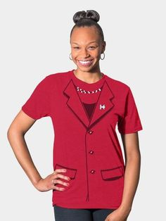 """Want to dress just like Hillary minus the pantsuit? shop.hillaryclinton.com has a solution for that. The """"Everyday Pantsuit Tee"""" makes supporting the Clinton campaign possible even outside of the office."""