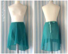 Tapered ballet skirt seafoam green dance wrap by tragSeligkeiten