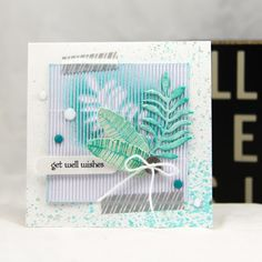 #stampinup #botanicalgardens #demobloguk teeny tiny sentiments botanical blooms get well card by UK demo Zoe Tant