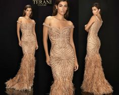 TERANI COUTURE 2011GL2221 authentic dress. FREE FEDEX WORLDWIDE. BEST PRICE   eBay Bronze Dress, Strapless Dress Formal, Formal Dresses, Terani Couture, Women Brands, Couture Fashion, Notes, Wedding, Free