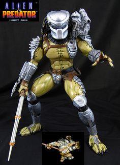 Custom Predator action figure. One of John Mallamas' many high level customs at www.howtohobbyist.com
