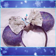 Minnie Mouse Ears Olaf Frozen by lydiaatthedisco on Etsy