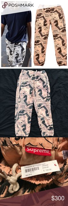 NWT | SUPREME x THRASHER BOYFRIEND PANTS SZ  MED ONE PAIR OF BF PANTS AVAILABLE📍100% AUTHENTIC SUPREME. PURCHASED DIRECTLY FROM SUPRME ON DROP DAY. SIZE MEDIUM MENS. I also have the matching jacket listed.   PRICE IS FIRM. NO SALES TAX ON POSH! 🤑 Bundles are subject to my final approval.   This item is cross listed by @justinstyleco THERE IS ONLY ONE ITEM. Supreme Pants