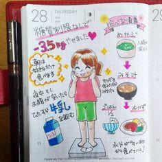 頑張れない #糖質制限 なしで3.5痩せました  I usually eat from juicy foods. It futher increases weight loss.  I lost 3.5kg.  #ほぼ日 #hobonichi #hobonichiplanner #ほぼ日手帳 #絵日記 #呉竹 #kuretake #art #illustration #drawing #draw #picture #artist #sketch #sketchbook #instaart #instaartist #イラストレーター #イラスト #漫画 #ダイエット
