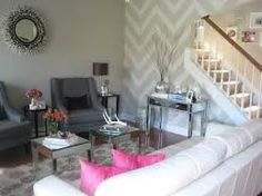 Home Sweet Home on a Budget: Living with Television | Chevron accent walls,  Walls and Room