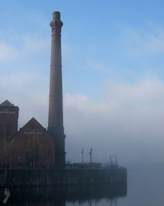 Liverpool in a misty morning