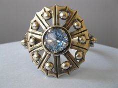 Vintage Sterling Silver Taxco Mexican Mexico Topaz Glass 2 Wide 51g Bracelet   eBay