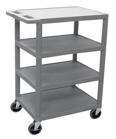 4 Flat Shelf Utility Cart