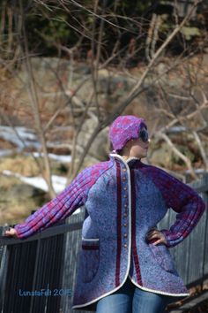 Eco / boho chic style Plus size warm merino wool от LunataFelt