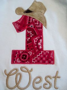 Cowboy Birthday Shirt Personalized for ages 19 by CaneyBoutique, $18.00