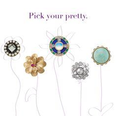 """lia sophia jewelry — """"Centerpiece"""" """" Azalea"""" """"Royal Blue"""" """"Catch the Bouquet"""" """"Pavilion"""" cocktail rings!"""