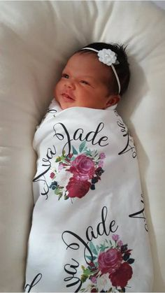 Swaddle blanket personalized baby name swaddle blanket: baby and toddler personalized name newborn hospital gift baby shower gift #ad