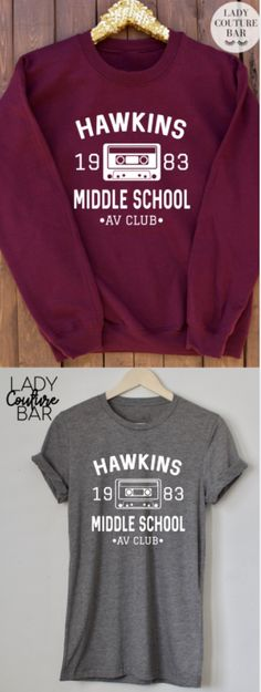 Hawkins Middle School AV Club Tee, Stranger Things Shirt, Stranger Things Tee, Eleven Hopper, ladies Unisex Tee, Stranger Things Sweatshirt, Stranger Things Jumper