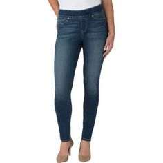 Signature by Levi Strauss & Co. Women's Totally Shaping Pull On Skinny Jeans, Size: 16 Long