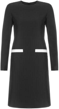 Avenue32 Huishan Zhang Black Wool Mini Dress on shopstyle.com