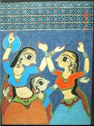 The origins of Madhubani painting or Mithila Painting are shrouded in antiquity and mythology. Madhubani painting/Mithila painting has been done traditionally by the women of villages around the present town of Madhubani and Darbhanga (the literal meaning of Madhubani is forests of honey) and other areas of Mithila. The painting was traditionally done on freshly plastered mud walls and floors of huts, but now they are also done on cloth, handmade paper and canvas.