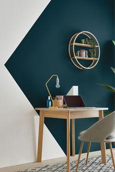 Bedroom Wall Designs, Bedroom Wall Colors, Room Colors, Bedroom Decor, Living Room Paint Colours, Teal Bedroom Walls, Spare Room Decor, Teal Accent Walls, Teal Walls