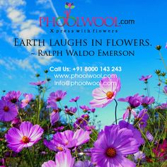 Earth laughs in flowers. Ralph Waldo Emerson, Earth, Quotes, Flowers, Plants, Qoutes, Dating, Floral, Plant