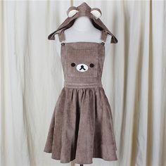 Pas cher 2017 Japonais A ligne Dress Mignon Ours Broderie Robe Harajuku Lolita Dress, Acheter  Robes de qualité directement des fournisseurs de Chine:2017 Japonais A-ligne Dress Mignon Ours Broderie Robe Harajuku Lolita Dress
