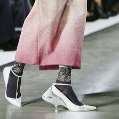 Zooming in on the shoes from today's Spring-Summer 2016 women's Ready-to-Wear Collection by @jgalliano. #MargielaSS16 #JohnGalliano #pfw