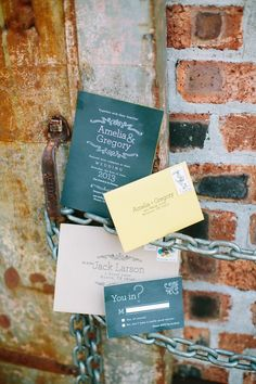 chalkboard inspired invitations // photo by Awake Photography // http://ruffledblog.com/industrial-science-styled-shoot