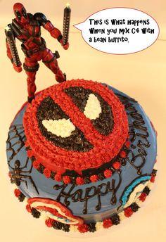 Deadpool says: Below me.......is a cake by MemiorsOfAnOtaku.deviantart.com on @deviantART