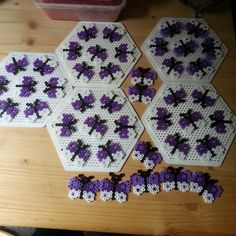 Butterflies hama beads by tanjacwossler