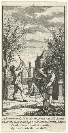 Maart: in de tuin werken, Jan Caspar Philips, 1736 - 1775