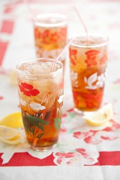 Paula Deen's sweet tea to keep cool in the summer. Maybe it will make up for my lack of air conditioning?