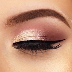 gold makeup for brown eyes ~ gold makeup ; gold makeup looks ; gold makeup looks on dark skin ; gold makeup looks black women ; gold makeup for brown eyes ; gold makeup looks for prom ; Rose Gold Makeup Looks, Gold Eye Makeup, Beauty Makeup, Makeup Eyeshadow, Makeup Brushes, Bridal Eye Makeup, Gold Eyeshadow Looks, Prom Eye Makeup, Makeup 2018