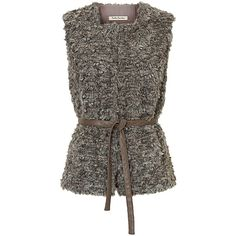 Betty Barclay Faux Fur Gilet, Grey Taupe ($185) ❤ liked on Polyvore featuring outerwear, vests, grey vest, fake fur vests, sleeveless vest, betty barclay and gray faux fur vest