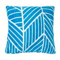 Elemis Cushion Flannelette Multi Chevron Teal