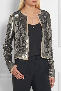 Maison Margiela | Sequined stretch-crepe jacket | NET-A-PORTER.COM