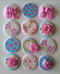 Vintage cupcake toppers. $45.00, via Etsy.