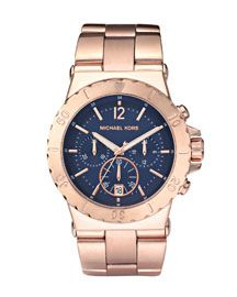 I want this navy and rose gold watch rulllll bad.