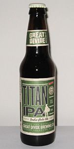 Titan IPA by Great Divide Brewing Company. 7.10%. American IPA. On draft. Enjoyed at friends house.