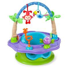 Summer Infant 13296 De Luxe Super Seat Tiere - Spielcenter Und Kindersitz/Sitzerhöhung (3-Phasen)